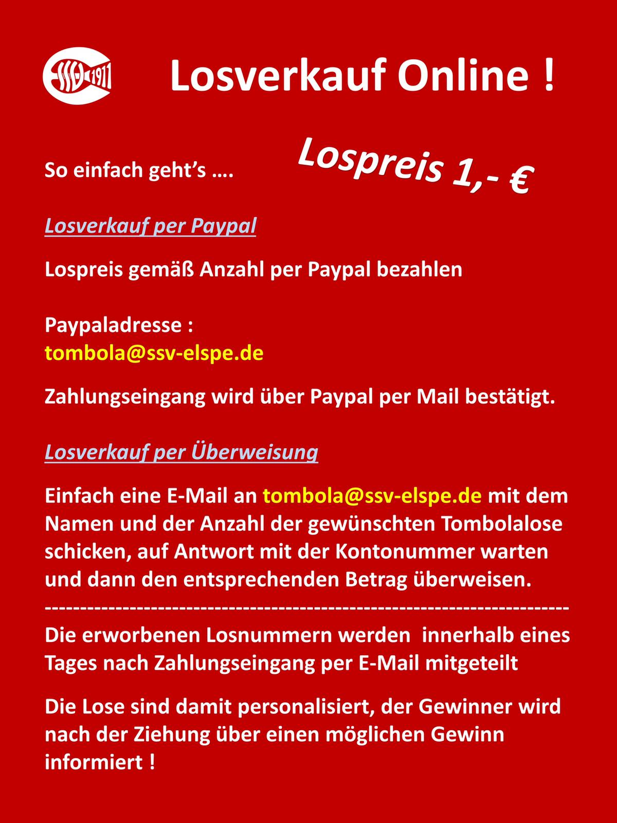 Tombola-Lose nun Online